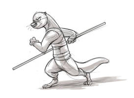 Kung Fu Otter by Temiree