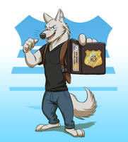 Commission: Grifterwolf (Chase Howard) by Temiree