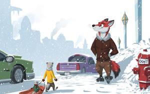 Snowy Tundratown by Temiree