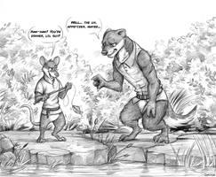 Commission: HugeWolf (Fishing) by Temiree