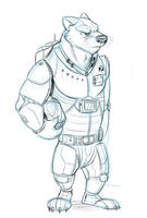 Space Badger by Temiree