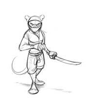 Commission: Bartolomeo95 (Ninja Rat) by Temiree
