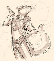Fiona with a Stick by Temiree
