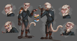 Commission: Captain Ratcliff's Reference Sheet by Temiree