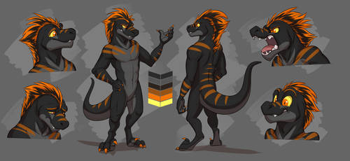 Commission: Nero's Reference Sheet by Temiree