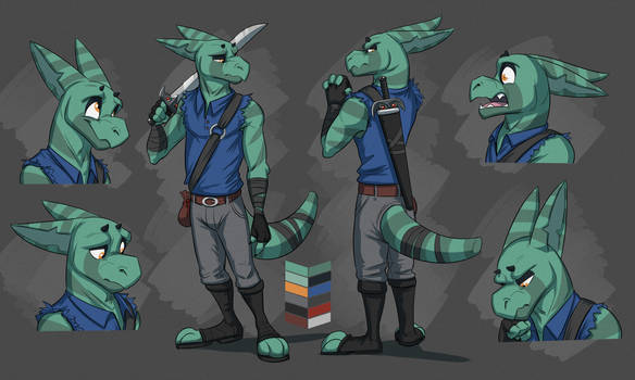 Commission: Cody's Reference Sheet by Temiree