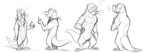 Ottermelon Character Designs by Temiree