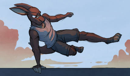Morning Parkour by Temiree