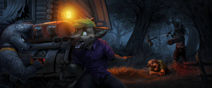 Commission: Whyamihereagain (He's Coming!) by Temiree