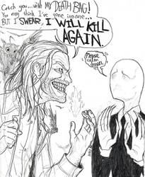Killer BOB meets The Slender Man by PenultimateN