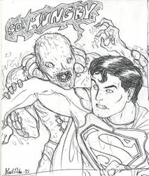 Superman VS Parasite by PenultimateN