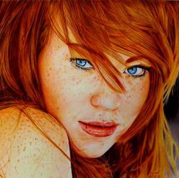 Cute Redhead - Ballpoint Pen by VianaArts