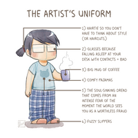 The artist's uniform by luyidraws