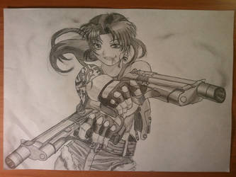 Revy from Black Lagoon by pavelbere