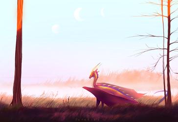 Moonset by Aerokiba