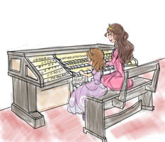 Organ lesson with mom by Earl-Nightmares