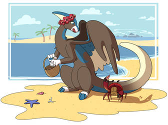 Another day at the beach by Layneon