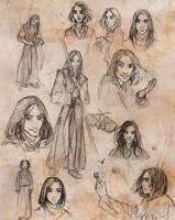 Dram/Asdair Sketches by LadyEru