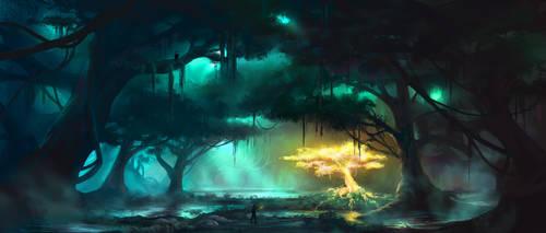 Swamp environment by artofmarius