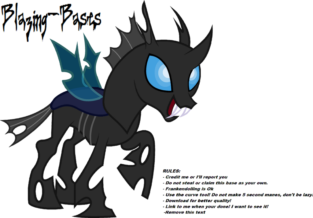 Mlp Changeling Tf: Changeling Is Happy! By Blazing-Bases On