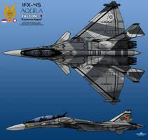 IFX-45 Aquila_2 View Drawing by haryopanji