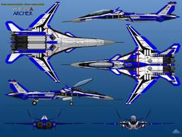 YFX-25A 6-View Prototype BLUE THREE by haryopanji