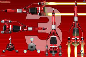 Thunderbird 3 - SSTO Rescue Craft by haryopanji