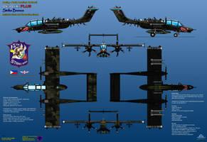 OV-10X+ Strike Bronco - PAF by haryopanji