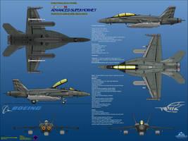 Boeing FA-18H Advanced Super Hornet - EWP Assault by haryopanji