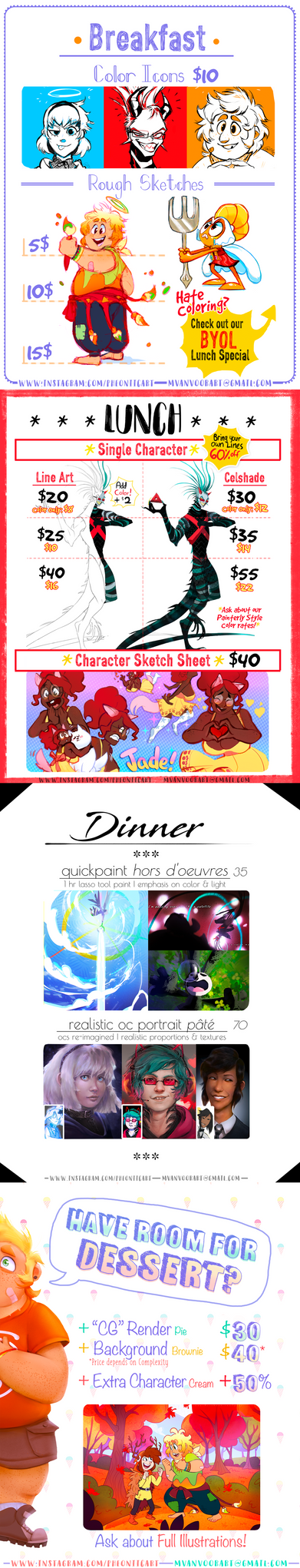*Pheoniic's 2018 YUMMY COMMISSIONS* [ON HOLD] by Pheoniic
