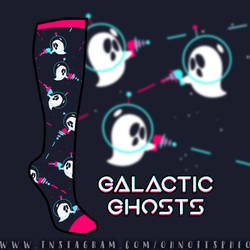 Vote for my Galactic Ghost Sock! by Pheoniic