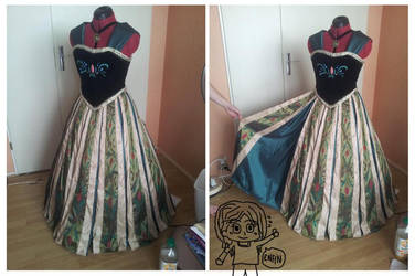 Anna Cosplay WIP (Coronation dress) - Frozen by MAJCosplay