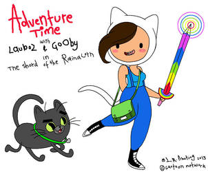 Adventure time Me n Gooby by LAUBoZ