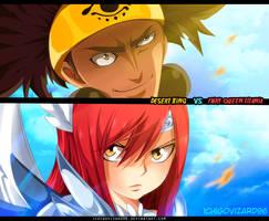 Fairy Tail 455 - Erza  vs Ajeel/Azir by IchigoVizard96