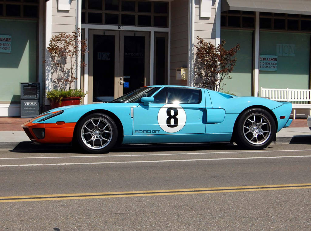 Ford Gt Blue And Orange Gulf By Partywave