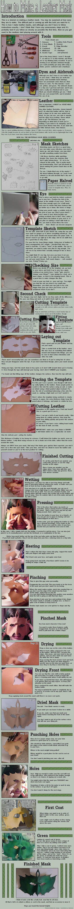 Leather Mask Making Tutorial by Ranasp