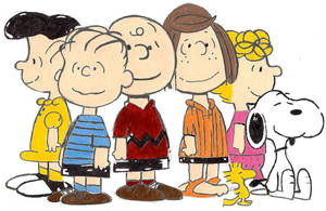Peanuts Gang by clownshadow