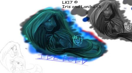 Iris and Laniku by Lionking17