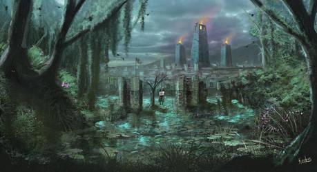 Edelia, City of Death by Erebus-art