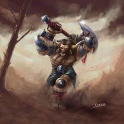 Tauren warrior commission by Erebus-art