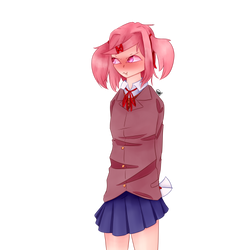 Whats That Behind Your Back, Natsuki? by zencat61