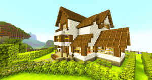 Minecraft Wallpapers - House by Nsgeo