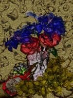 Metal flowers by Ramlyn