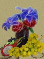 Flowers painting by Ramlyn