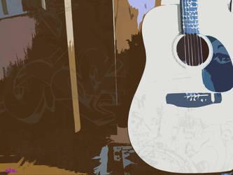 Guitar cutout by ciz73