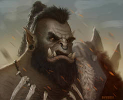Orc Portrait by mirrors519