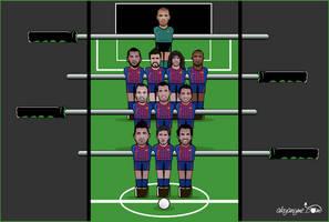 Futbolin Barcelona by akyanyme