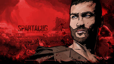 Andy Whitfield as Spartacus by akyanyme