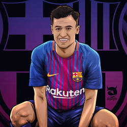 Philippe Coutinho Barcelona by akyanyme