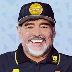 Diego Armando Maradona vector portrait by akyanyme